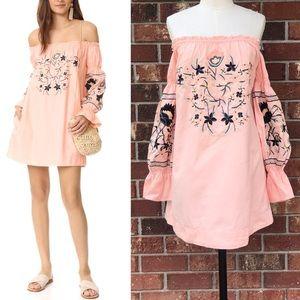 FREE PEOPLE Fleur Du Jour Mini Dress- Pink